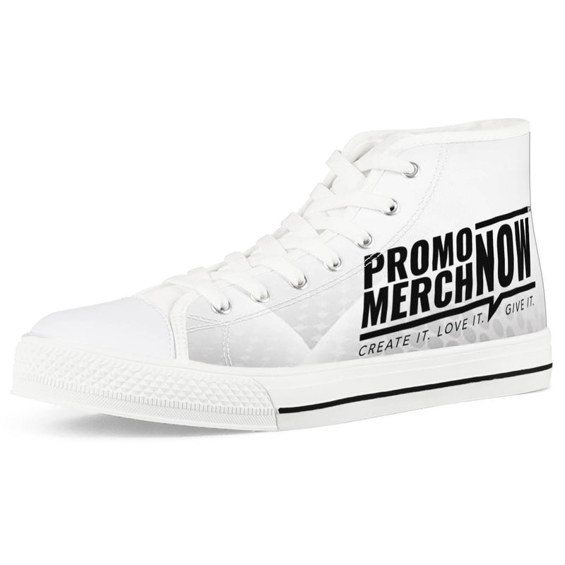 All Over Print Sublimated - White High Top Canvas Shoes