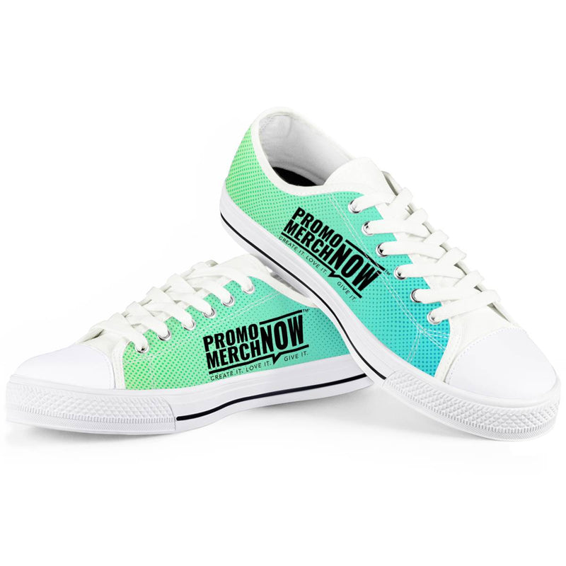 All Over Print Sublimated - White Low Top Canvas Shoes