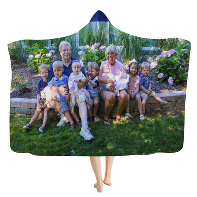 Woodward Family Photo Grass Hooded Blanket