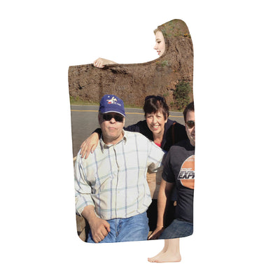 Woodward Family Cliff photo Hooded Blanket