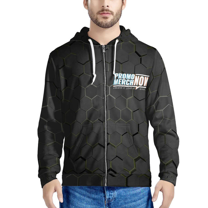 All Over Print Sublimated - Men's All Over Print Zip Hoodie