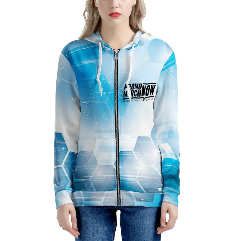 All Over Print Sublimated - Women's All Over Print Zip Hoodie
