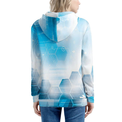 Linda - All Over Print Sublimated - Women's All Over Print Zip Hoodie