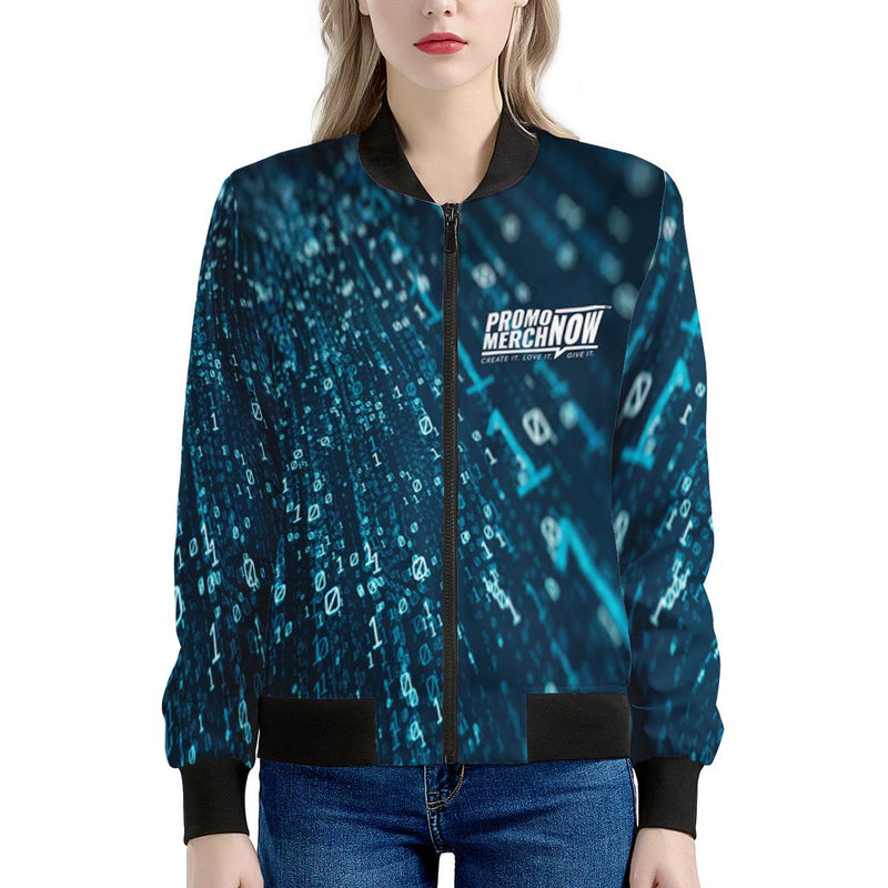Dominique - All Over Print Sublimated - Women's Bomber Jacket
