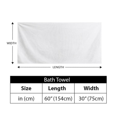 Suds - All Over Print Sublimated - Bath Towel
