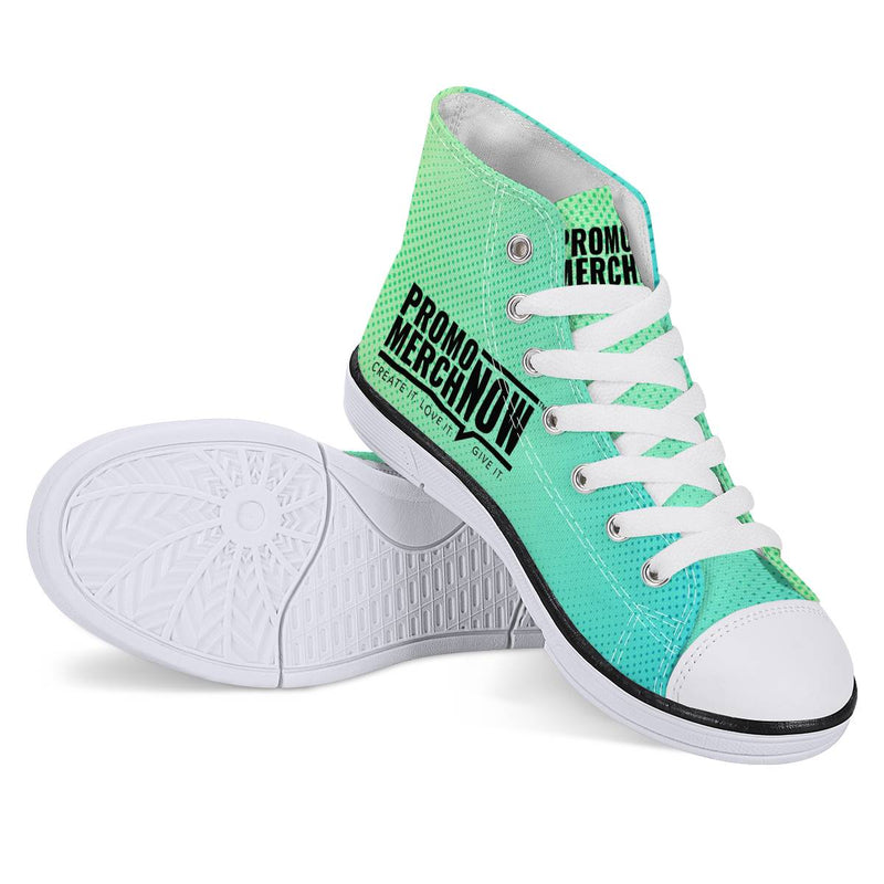 All Over Print Sublimated - Kids High Top EVA Canvas Shoes