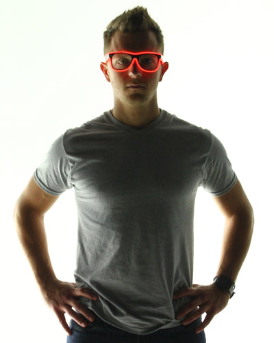 Light Up Glasses - Electric Styles | World's Number 1 Light Up Shoe Store - {product_type}} - Red - 14