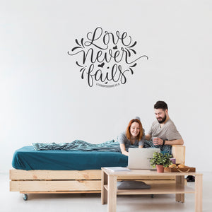 Love Never Fails 1 Vinyl Wall Art