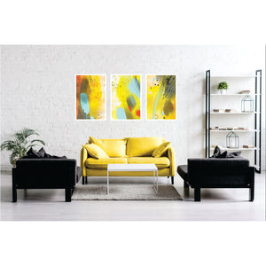 Abstract Yellow Art Print Set