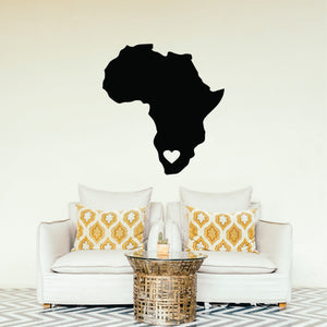 Africa Heart Vinyl Wall Art