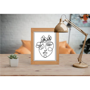Face With Simple Lines Art Print  Art drawing