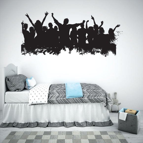 Crowds Teenager Vinyl Wall Art