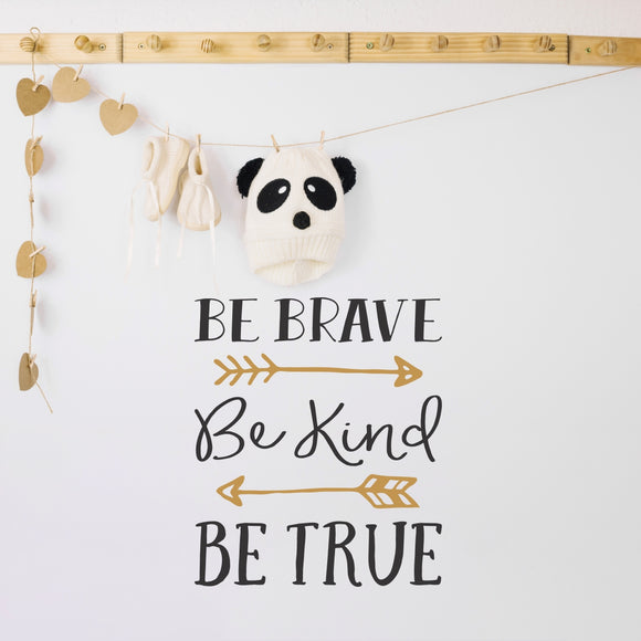 Be Braver Vinyl Wall Art