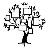 Beautiful Family Tree With Frames Vinyl Wall Art