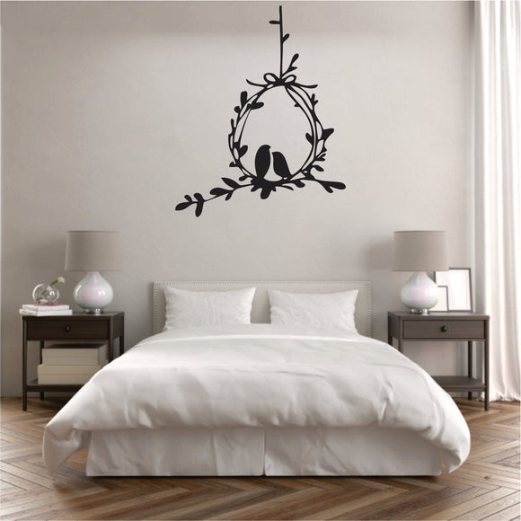 Birds In Love Vinyl Wall Art