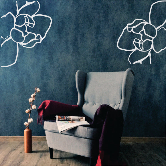 Blooming Flowers Vinyl Wall Art