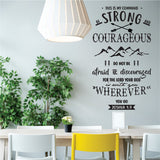 Courageous  Vinyl Wall Art