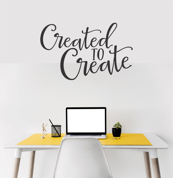 Created To Create Vinyl Wall Art