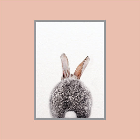 Cute Rabbit  Back Art Print