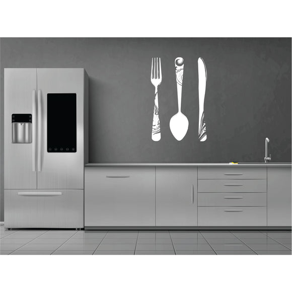 Cutlery Vinyl Wall Art