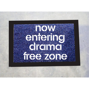 Drama Free Zone Door Mat