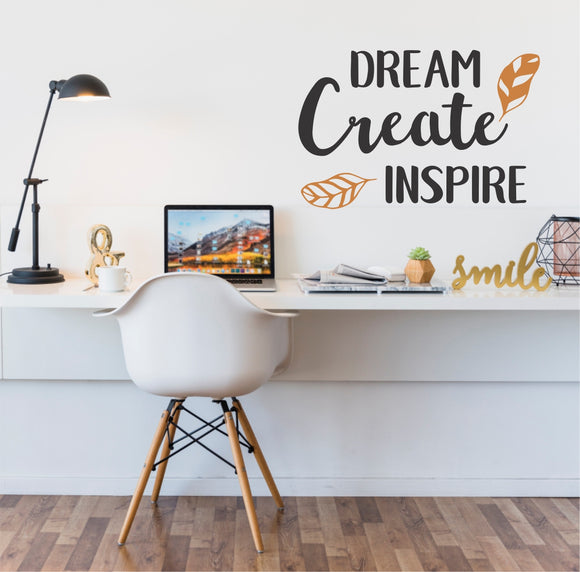 Dream To Inspire Vinyl Wall Art