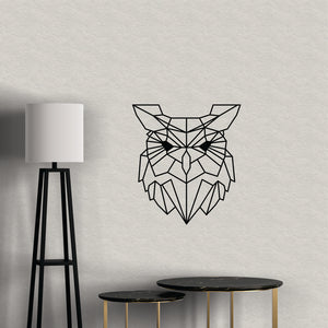 Geometric Owl Vinyl Wall Art