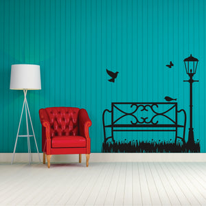 Garden Bench  Vinyl Wall Art