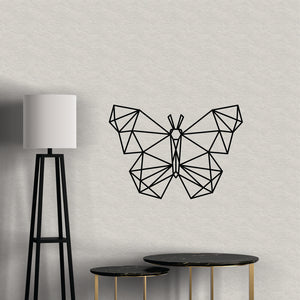 Geometric Butterfly Vinyl Wall Art