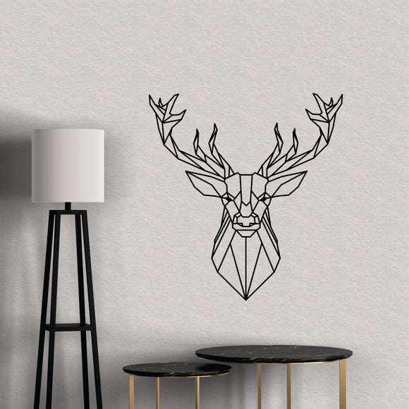 Geometric Deer Vinyl Wall Art