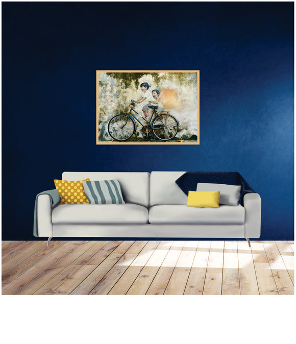 Graffiti And Bicycle  Art Print