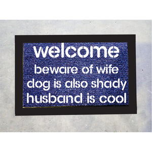 Husband Is Cool Door Mat