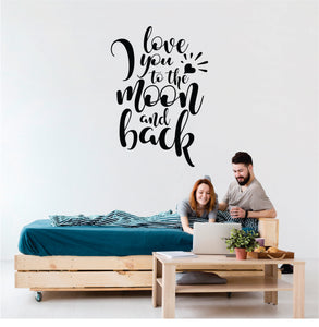 I Love You To The Moon And Back Vinyl Wall Art