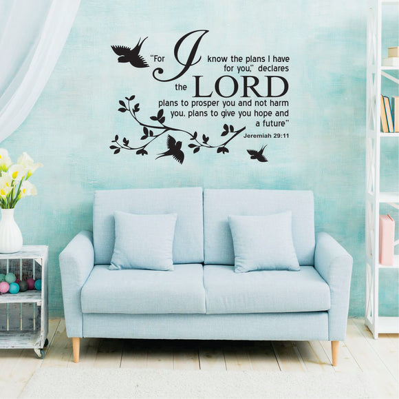 Jeremiah 29:11 English Vinyl Wall Art