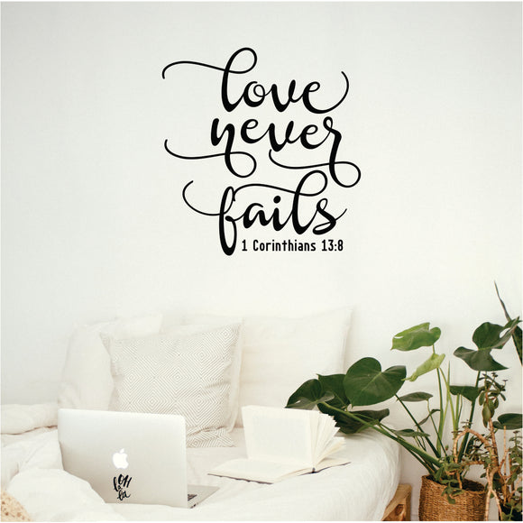 Love Never Fails  2 Vinyl Wall Art