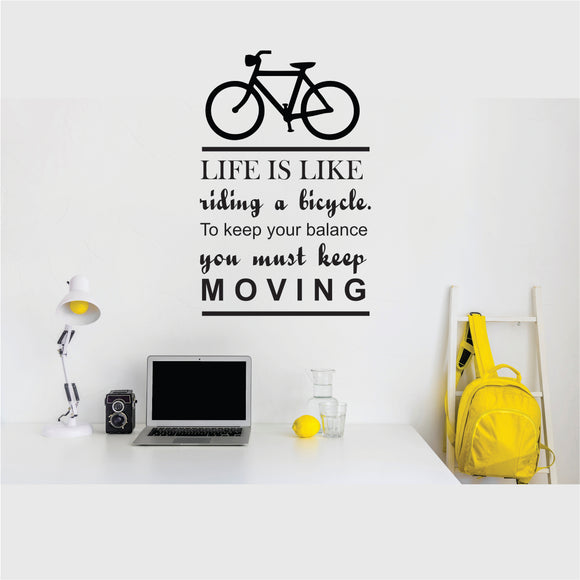 Life Is Like Riding A Bicycle Vinyl Wall Art