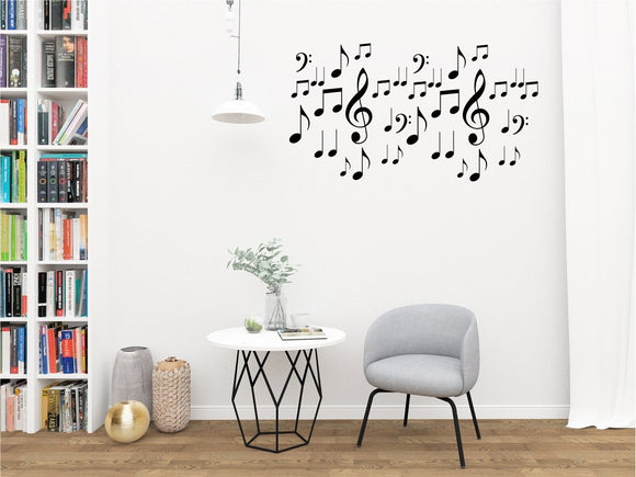 Musical Notes Vinyl Wall Art