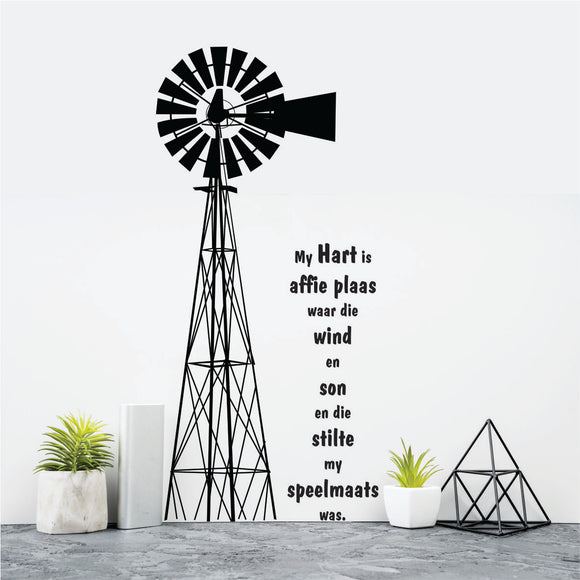 My Hart Is Affie Plaas Vinyl Wall Art