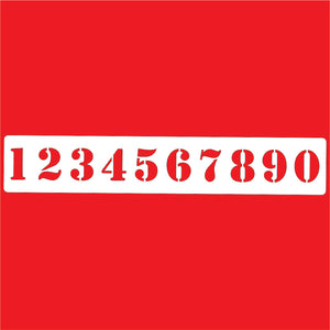 Numbers Stencil