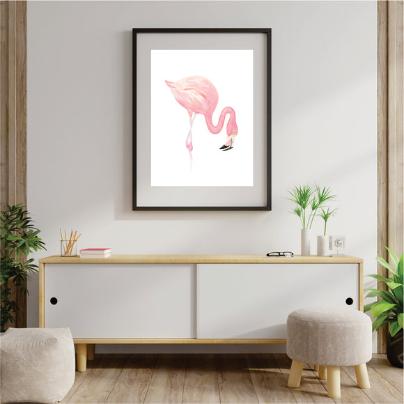 Pink Flamingo 2 Art Print