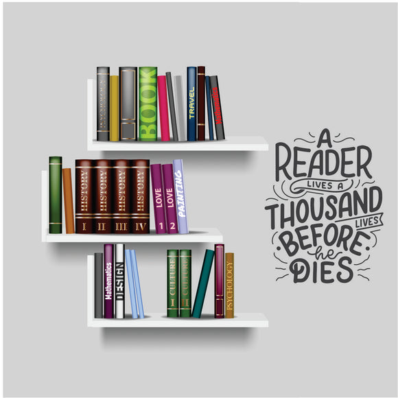 Readers Lives Vinyl Wall Art