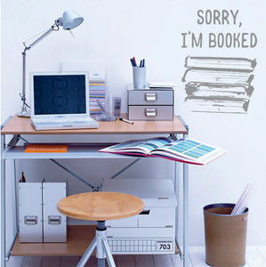 Sorry I'm Booked Vinyl Wall Art