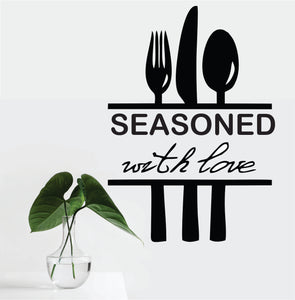 Seasoned With Love Vinyl Wall Art