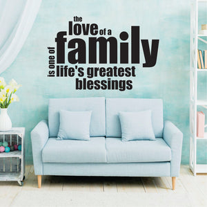The  Love Of A Family Vinyl Wall Art
