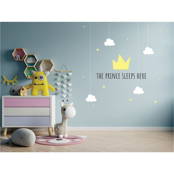The Prince Sleep Here Vinyl Wall Art