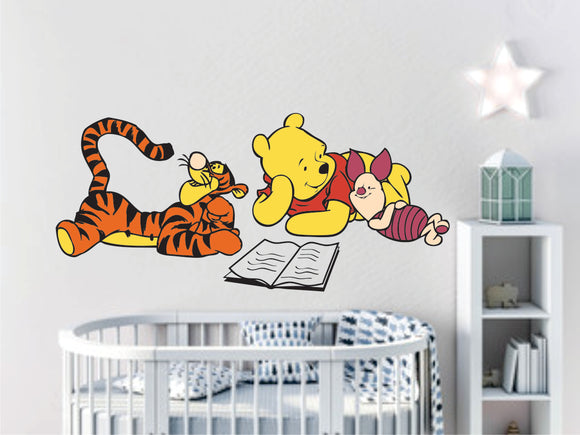 Tigger And Friend Reading Vinyl Wall Art