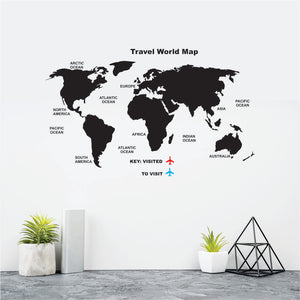 Travel World Map Vinyl Wall Art