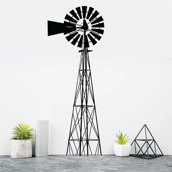 Windmill Vinyl Wall Art
