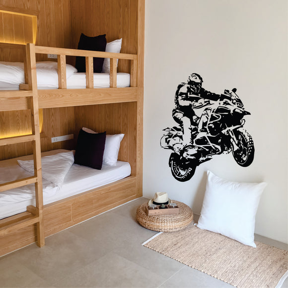 Adventure Bike Vinyl Wall Art