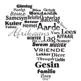 Africa In Words  Afrikaans Vinyl Wall Art